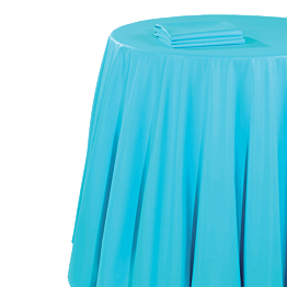 Nappe chintz turquoise 270 x 270 cm