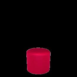 Pouf rond houssé rouge Ø 50 cm H 45 cm