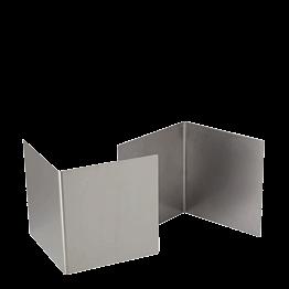 Réhausse inox 20 x 18.5 cm H 20 cm (par 2)