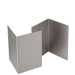Réhausse inox 20 x 20 cm H 30 cm (par 2)