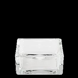 Cendrier en verre carré 8 x 8 cm H 3,5 cm