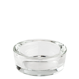 Cendrier en verre rond Ø 9 cm H 4 cm