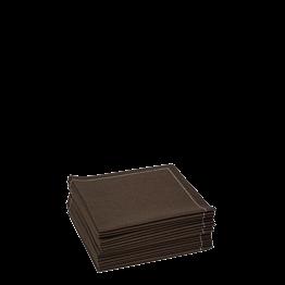 Serviettes tissu chocolat 2 plis 20 x 20 cm (par 30)