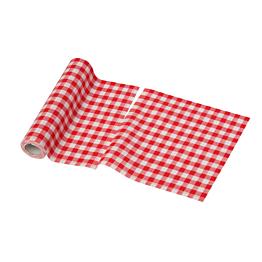 Rouleau de 12 serviettes tissu vichy rouge 21 x 21 cm