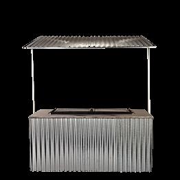 Buffet pliant barbecue avec toit en tole 100 x 200 cm délai 48H