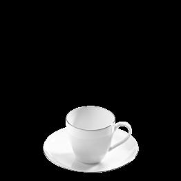Tasse et sous-tasse à café Platinium 10 cl
