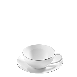 Tasse et sous-tasse à thé Platinium 20 cl