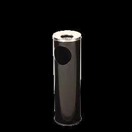Cendrier sur pied avec poubelle  Ø 24 cm H 70 cm