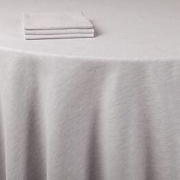 Nappe lin gris 290 x 290 cm