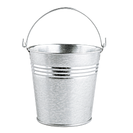 Seau en zinc naturel Ø 11 cm H 10 cm