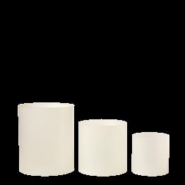 Lot de 3 réhausses cylindre givrées