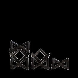Support de plat en bois empilable noir (à l'unité)