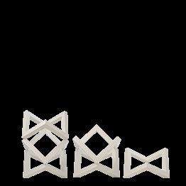 Support de plat en bois empilable blanc (à l'unité)