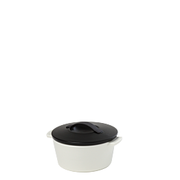 Cocotte black and white Ø 10 cm 20 cl