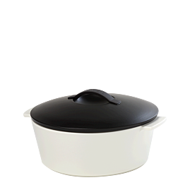 Cocotte black and white Ø 26 cm 340 cl