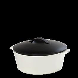Cocotte black and white Ø 26 cm 340 cl