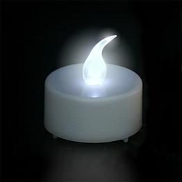 Bougie LED blanche Ø 3,8 cm fournie avec pile