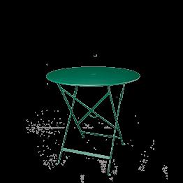 Table Trocadéro ronde verte Ø 77 cm H 74 cm