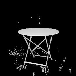 Table Trocadéro ronde blanche Ø 77 cm H 74 cm