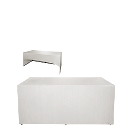 "Buffet pliant houssé blanc ""3 faces"" 80 x 200 cm H 91 cm"