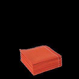 Serviettes tissu brique 2 plis 10 x 10 cm (par 30)