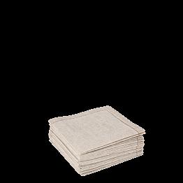 Serviettes tissu ficelle 2 plis 10 x 10 cm (par 30)
