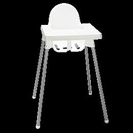 Chaise haute bébé H 90 cm (L 58 P 62 cm)