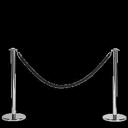 Corde noire L 200 cm
