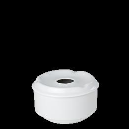 Cendrier porcelaine rond avec couvercle Ø 10 cm H 6 cm