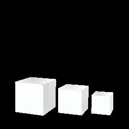 Lot de 3 réhausses blanches