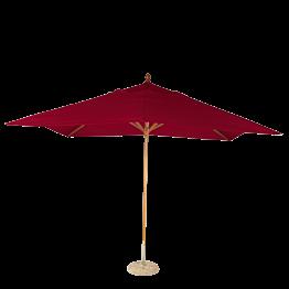 Parasol Louisiane rouge vif 300 x 300 cm + socle granit Ø 50 cm
