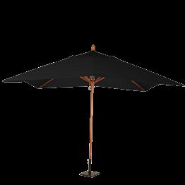 Parasol Louisiane noir 300 x 300 cm + socle acier 30 x 30 cm