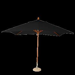 Parasol Louisiane noir 300 x 300 cm + socle granit Ø 50 cm