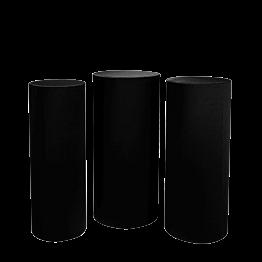 Mange-debout cylindres noirs houssés H 110 -112 - 114  (par 3)