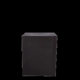 Buffet cube lycra noir sur roulettes 70 x 100 H 110 cm - 24h