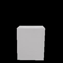 Buffet cube lycra blanc sur roulettes 70 x 100 H 110 cm - 24h