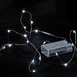 Guirlande 12 LEDS gouttes d'eau blanc froid 120 cm fournie sans p