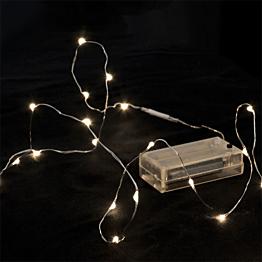 Guirlande 12 LEDS gouttes d'eau blanc chaud 120 cm fournie sans p