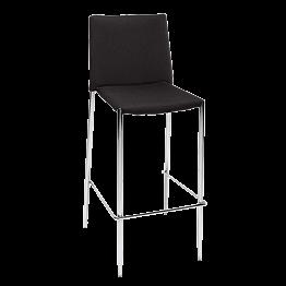 Chaise haute noire H 111 L 43 P 52 cm