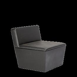 Module central Cône noir 75 x 75 x 75 cm
