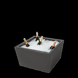Table basse vasque Cône noir 70 x 70 H 40 cm
