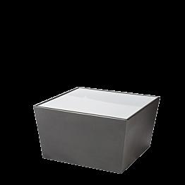 Table basse Cône noir avec plateau acrylique blanc 70x70x40 cm