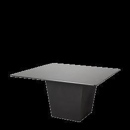 Table H 75 cm Cône noir plateau noir 140 x 140 cm