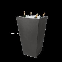 Mange-debout Cône noir et vasque noire à champagne