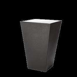 Mange-debout Cône noir plateau acrylique blanc