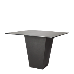 Table haute H 112 cm Cône noir plateau noir 140 x 140 cm
