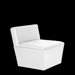 Module central Cône blanc 75 x 75 x 75 cm
