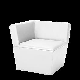 Module d'angle Cône blanc 75 x 75 x 75 cm