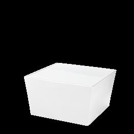 Table basse Cône blanc avec plateau acrylique blanc
