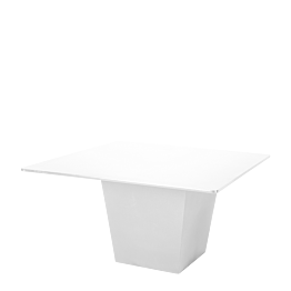 Table H 75 cm Cône blanc plateau blanc 140 x 140 cm
